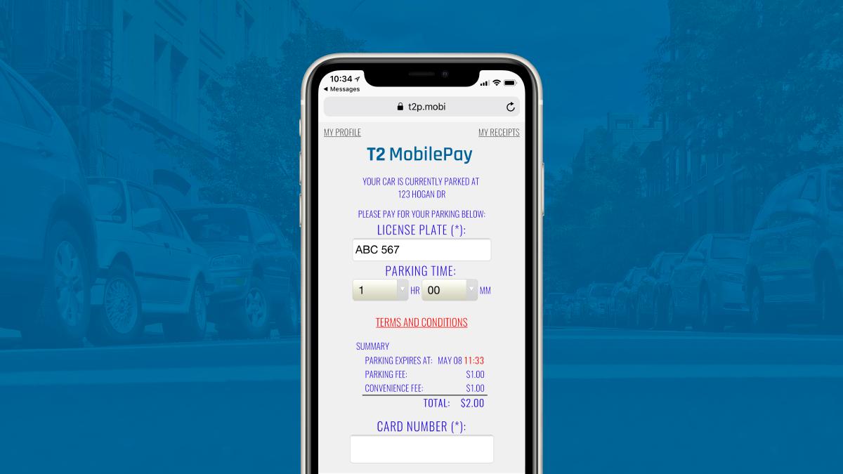 T2 MobilePay Mobile Web App User Interface