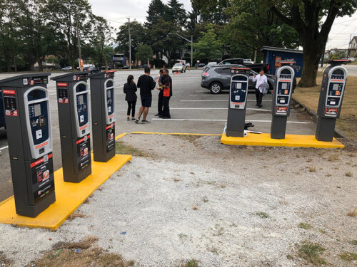 T2 Luke Pay Stations at an EasyPark lot