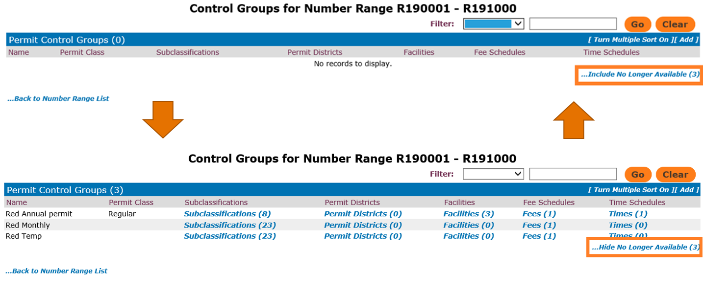 Control Groups for Specific Number Range in T2 Flex
